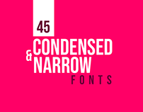 45+ Best Condensed & Narrow Fonts for Designers