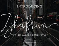 Zhafran Signature Font