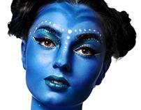 Art futuristic alien makeup.