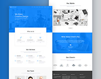 Graphico It Services Landing Page Design