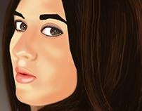 Autorretrato con pintura digital - Photoshop