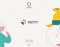 Petty app - UI/UX web and mobile design project