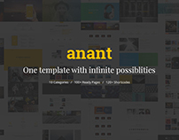 Anant | Multipurpose HTML Template $17