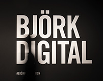 Björk Digital at CCCB. Exhibitions graphics