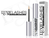 Luxie Lashes Logo Design and packaging design
