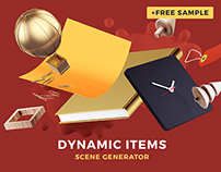 Dynamic Items Mockup Scene Generator