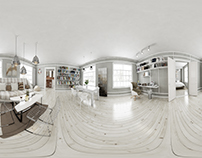 3D Interior project - 2' Loft 360 panoram