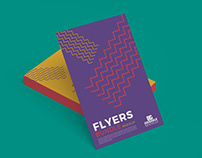 Free Flyers Bundle Mockup PSD