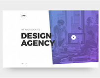 Design Agency Landing Page Web View