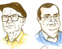 Desenho em homenagem a dois irmãos La Sallistas