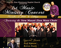 New Mt. Zion Baptist Church 1st Music Ministry Concert