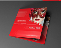 Indesign template - Trifold brochure Fashion Red