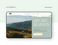 Site évènementiel - Micro Maisons Exposition