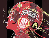 "American Bombshell 7"" Album Artwork"