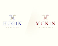 """Logo drafts """"Hugin & Munin"""""""