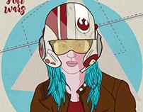 Ilustración inspirada en Star Wars