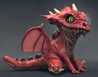 Baby Dragon Re- Render - 3D Artist Cover Issue 94
