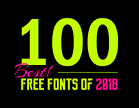 100+ Best Free Fonts of 2018