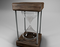 Cinema 4d - Realistic hourglass