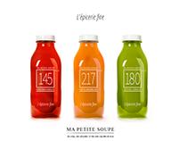 Branding, print et pack de l'épicerie fine: gamme soupe