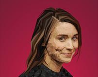 Rooney Mara (Low Poly Art )