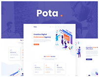 pota -Digital Agency sketch Template