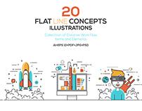 Set of Flat Design Concepts Illustration