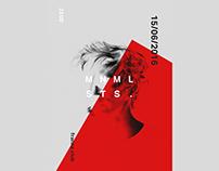 mnmlsts. event poster concepts / #365designdays