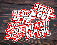 Hand Lettered Stickers