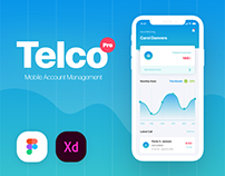 Telco Pro - Mobile Management App UI Kit