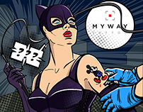 """Surprised?"" Illustration for MyWay tattoo studio"