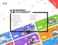 12 Business Flat Concept