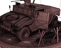 Free Download - 3D Humvee Max only