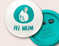''HI MUM'' logo for children's store