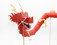 Paper Toy Dragon for Chinese New Year