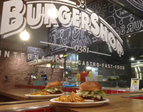 Interior decoration with chalks - BURGERSHOP