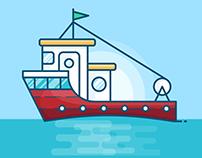 Fishing Boat Illustration