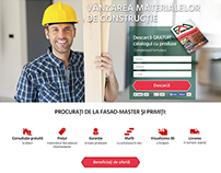 Landing Page for construction materials company