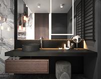 Dark bathroom with charakter