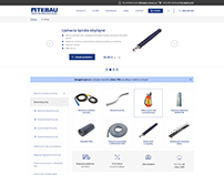 E-shop design for TEBAU, construction equipment seller