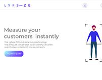 Lyfsize Website UI