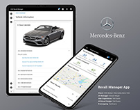 Mercedes-Benz Recall Manager App