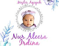 POSTER & CARD | MAJLIS AQIQAH NUR ALEESA IRDINA