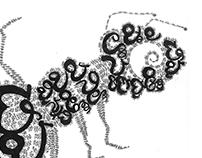Calligram-The hardworking Ant