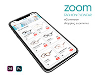 Zoom Fashion eyewear eCommerce Shopping Experience