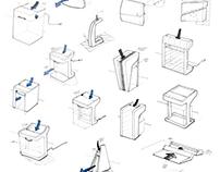 Paper Shredder Ideation Sketches