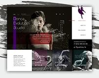 Вариант дизайна для сайта танцевальной студии DES