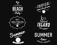Summer Vintage Labels
