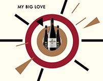 communication design for My Big Love wine bar + shop