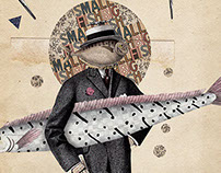 Small fish. Big fish. (Digital/Handmade Collage - 2015)